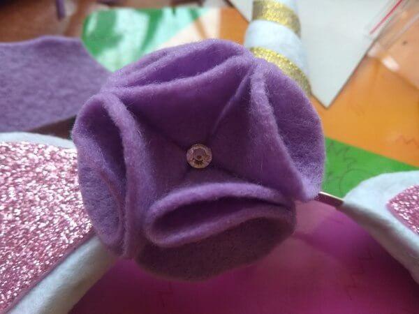 цветочек для ободка единорог