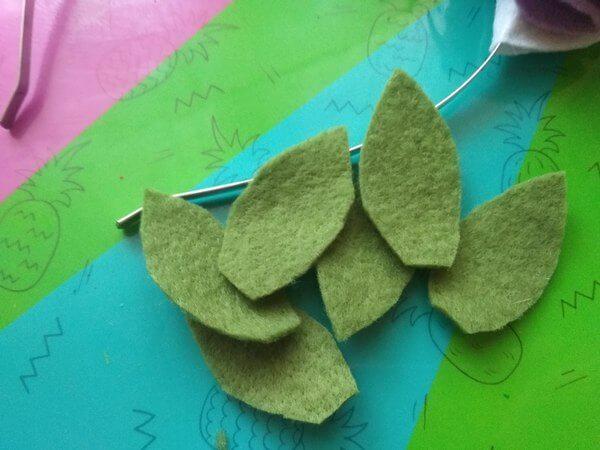 листочки из фетра