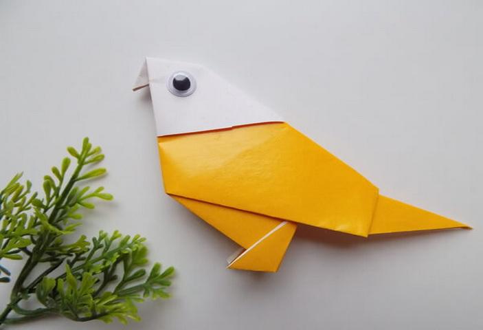 оригами птица инструкция готовая