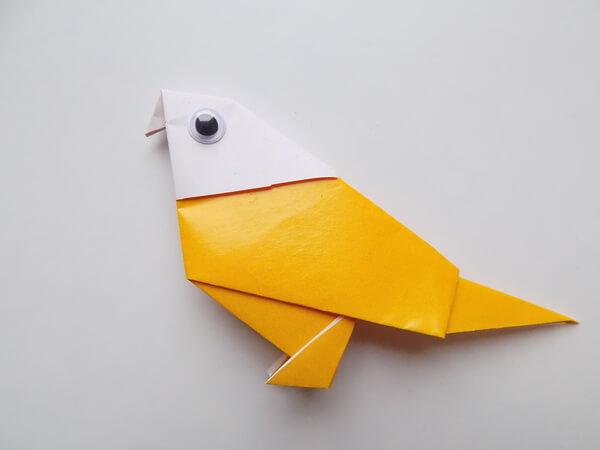оригами птица подготовительная группа
