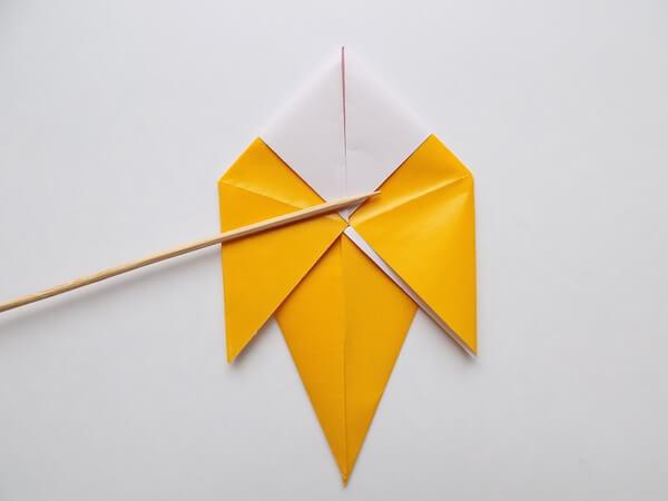 оригами птица поэтапно