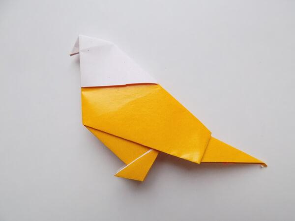 птица из бумаги легко и просто
