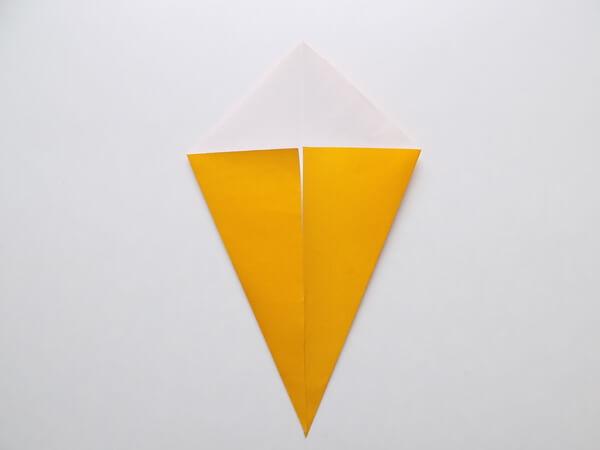 птица оригами простая