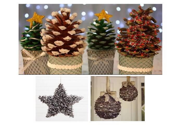 натуральный новогодний декор и шары
