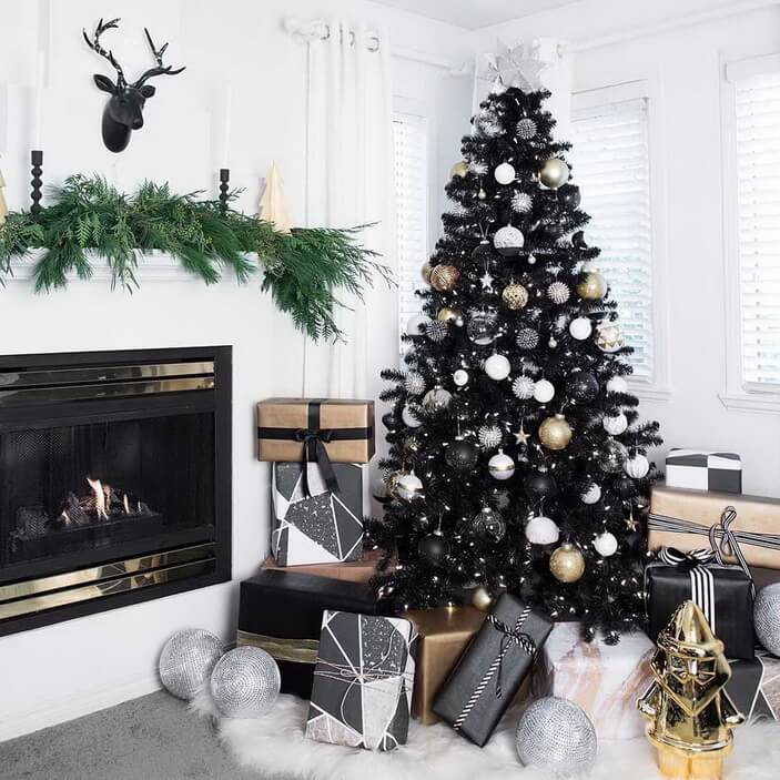 новогодний декор минимализм