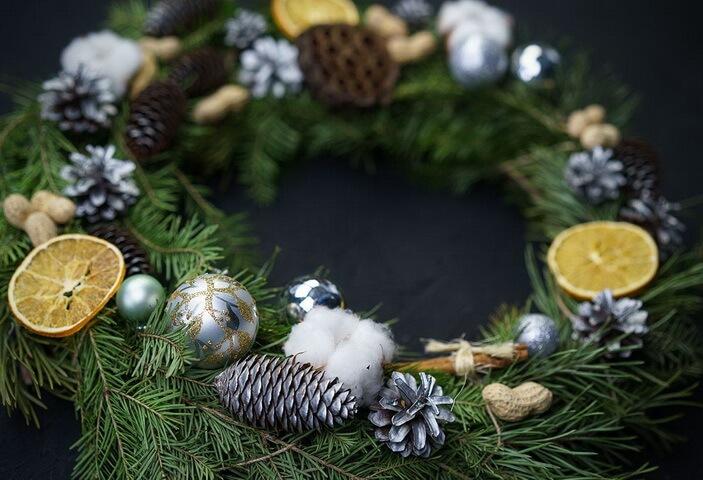 натуральный новогодний декор