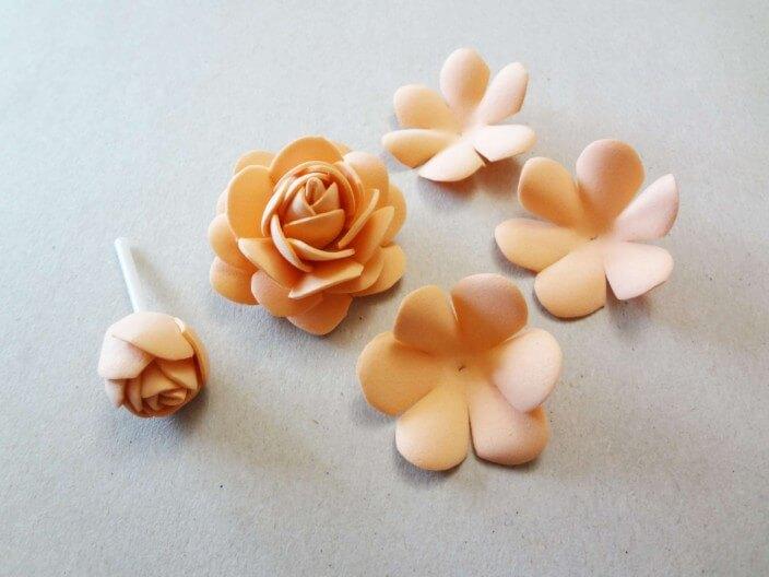 фоамиран розы фото