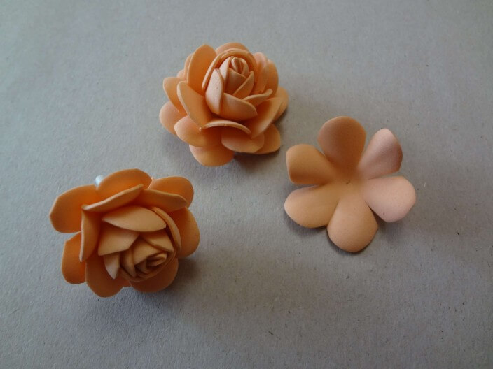 мк роза из фоамирана