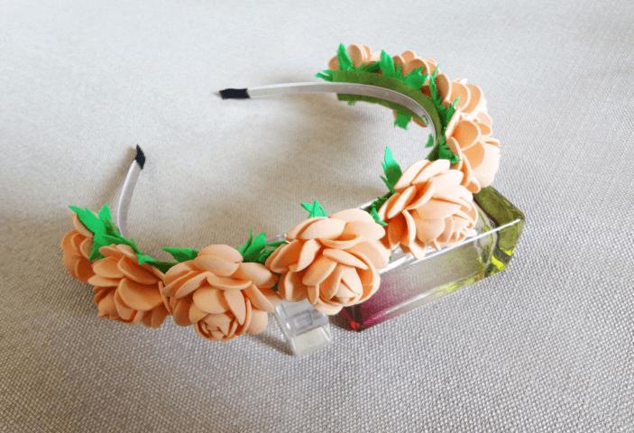 Ободок из фоамирана «Розы»