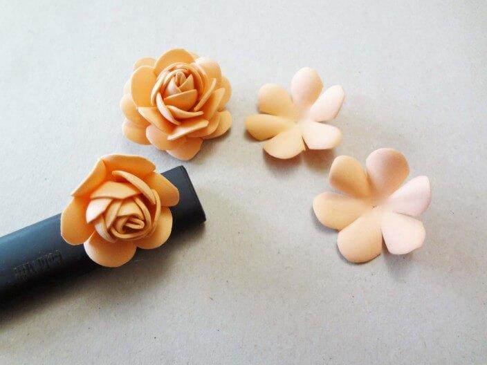 розы из фоамирана пошаговое