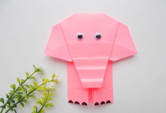 Слоник из бумаги: оригами мастер класс