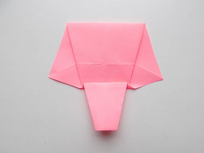 слоник из бумаги простой