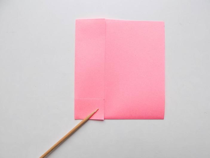 розовый слоник из бумаги