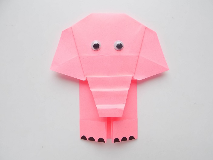 слоник из бумаги мастер класс