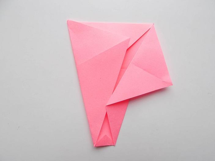 поделка слоник из бумаги розовый