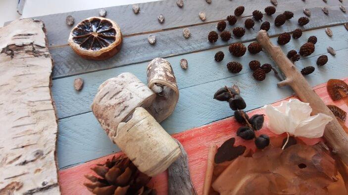 осенние поделки в садик из природных материалов